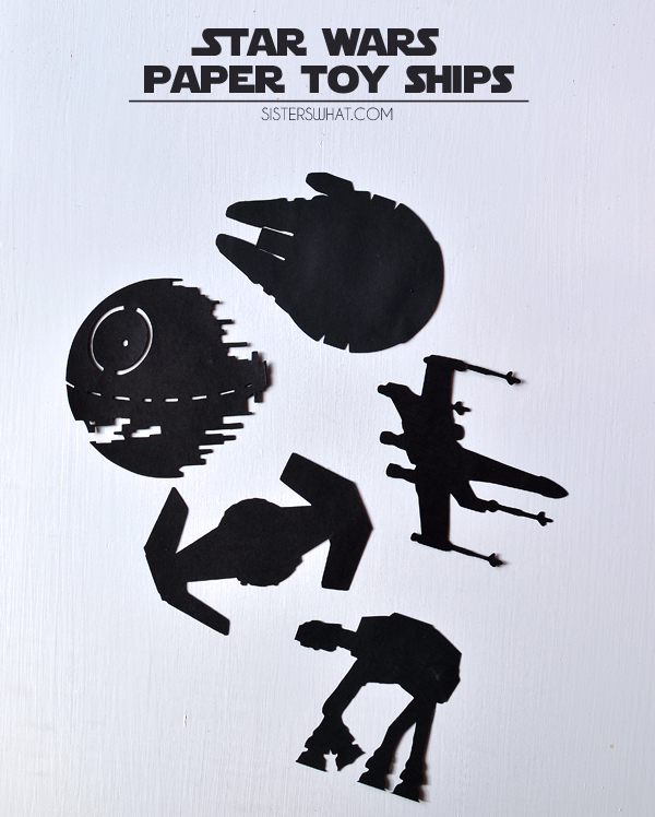 Star Wars Paper Play Ships