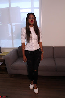 Nia Sharma at an itnerview for For Web Series Twisted 07.JPG