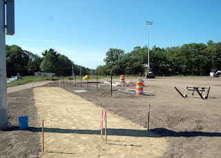 bleacher position for baseball field