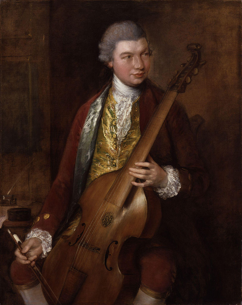Portrait of Carl Friedrich Abel (Thomas Gainsborough, 1765)