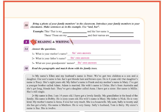 9. Sınıf Yıldırım Yayınları İngilizce A1.2 Ders Kitabı 11. Sayfa Cevapları Theme 1 People and Society