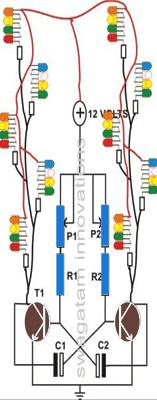 led string light flasher circuit