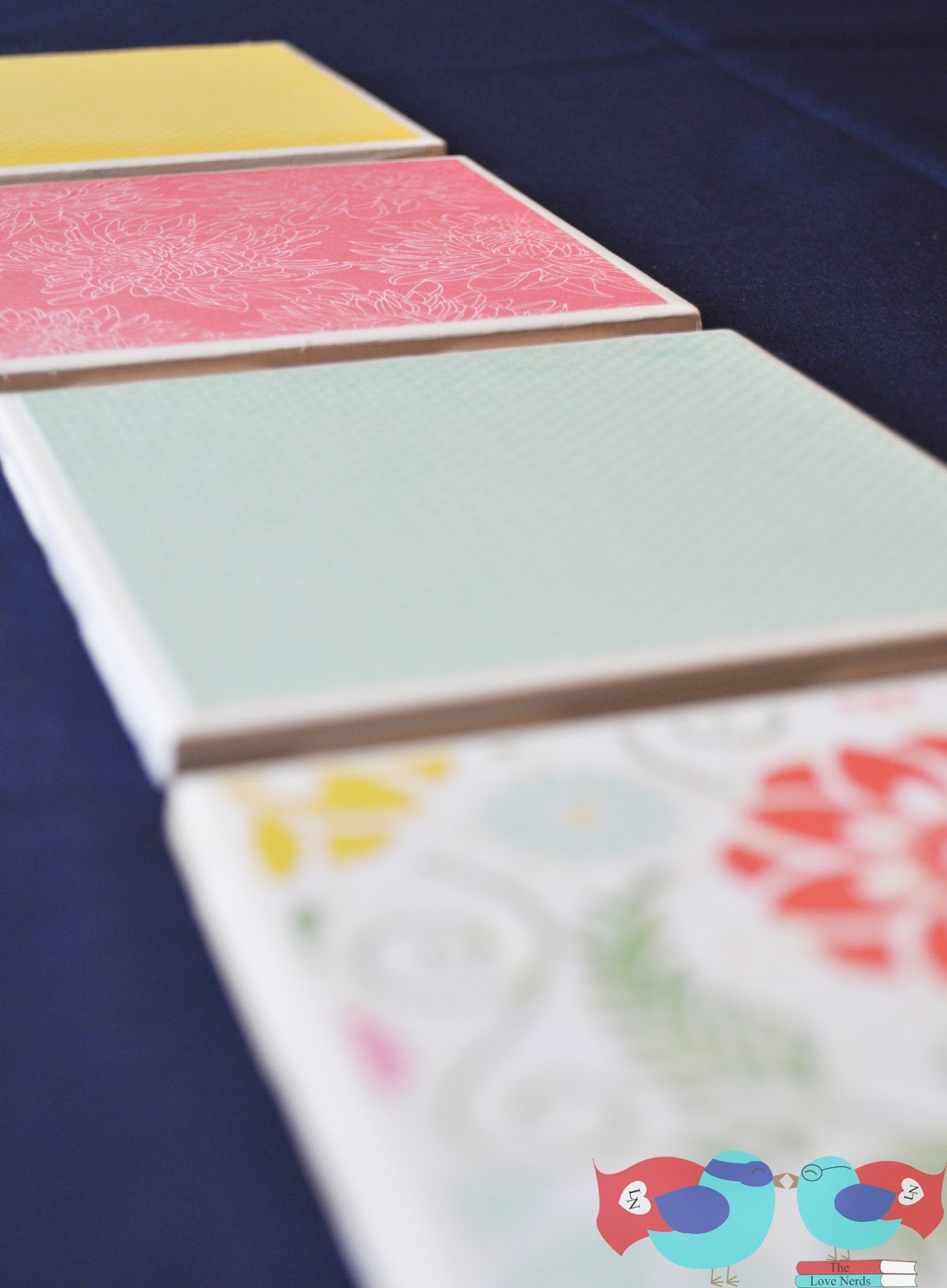 How To Make Coasters With Scrapbook Paper And Mod Podge The Love Nerds