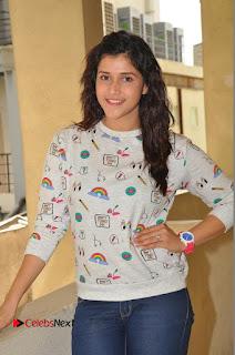 Actress Mannara Chopra Pictures in Denim Jeams at Thikka Movie Interview  0006