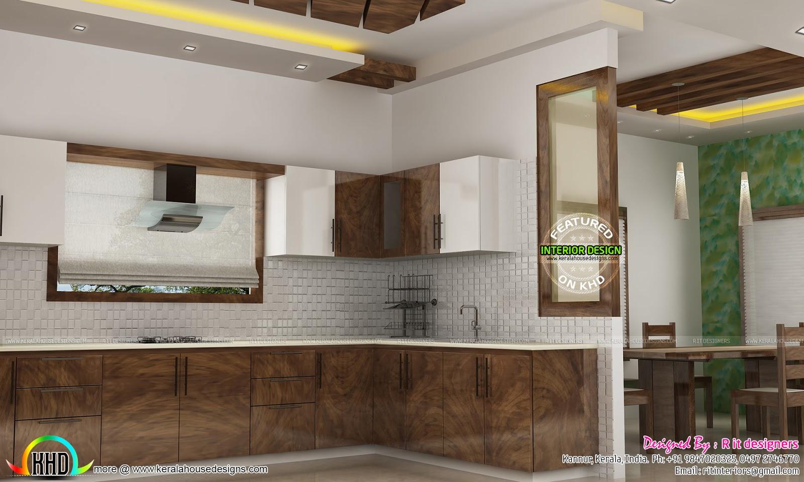 Dining, kitchen, living room interior designs - Kerala ...
