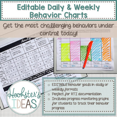 Editable Daily and Weekly Behavior Charts help you get unruly behavior under control!