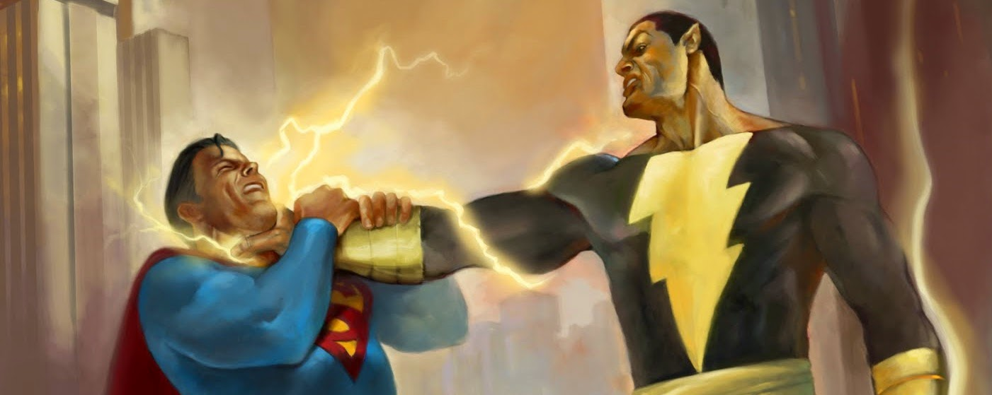 black adam vs superman vs batman
