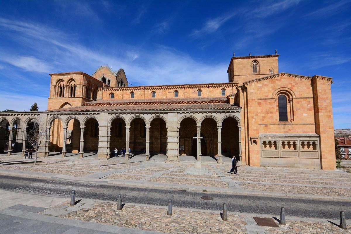 La basilique San Vicente d'Avila, lieu de martyr.
