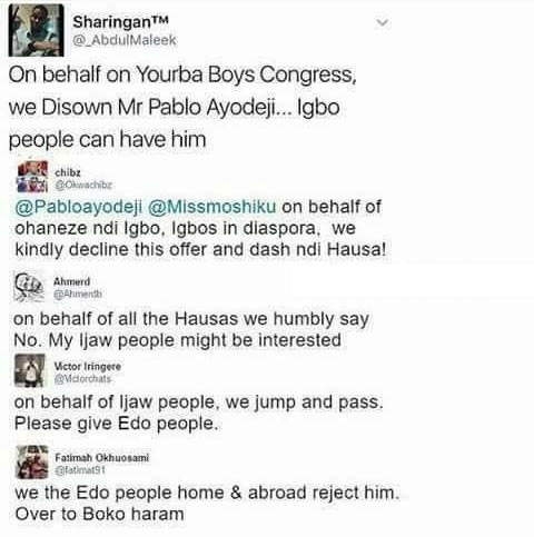 Check out how Nigerian tribes disowned this guy on social media