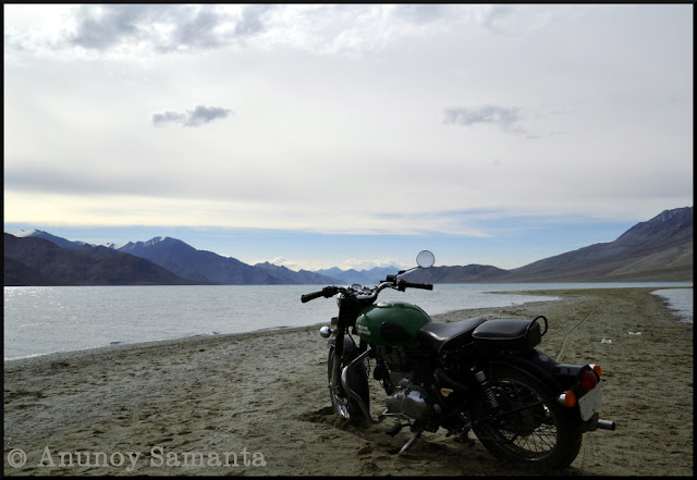 Pangong Tso Lake - from my Ladakh Motorcycle diary