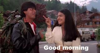 Romantic Good Morning Images from Bollywood movie 'Dilwale dulhaniya le jayenge'
