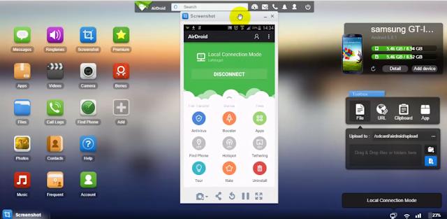 التحكم الكامل في هاتف الأندرويد من الكمبيوتر وإدارة الملفات والتطبيقات عبر AIRDROID