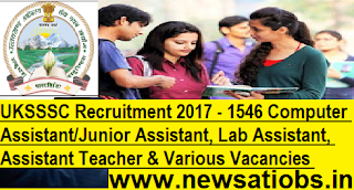 UKSSSC-1546-Computer-Assistant-Teacher-Various-Vacancies