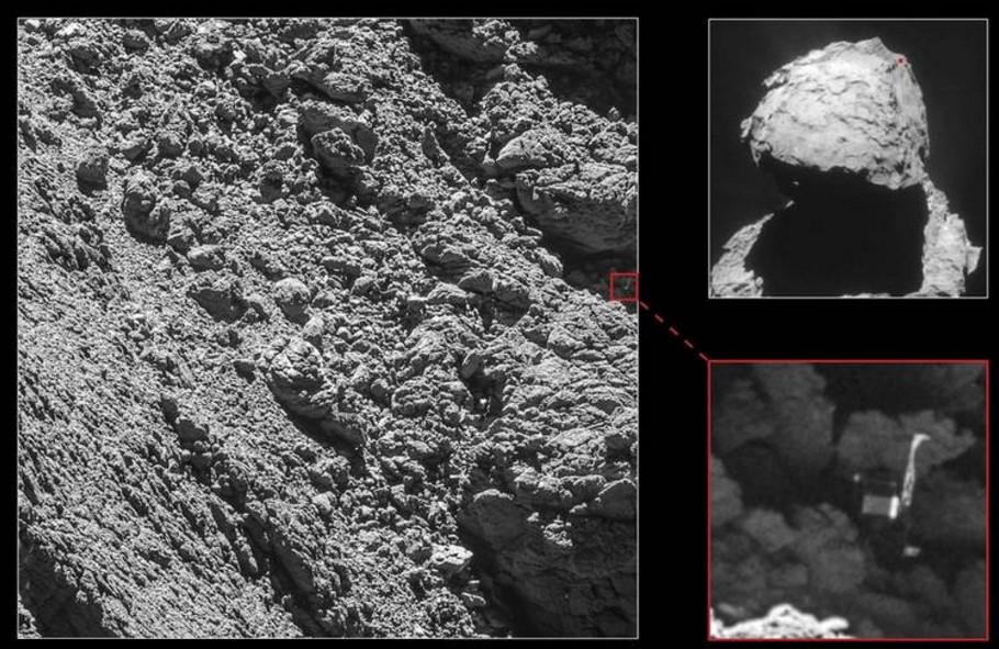 Rosetta Encuentra A Philae En El Último Momento