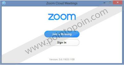 Tampilan Zoom saat pertama dibuka