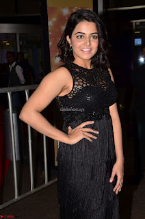 Wamiqa Gabbi in a sleevelss Black Designer Transparent Gown at 64th Jio Filmfare Awards South - 17th Jun 2017 ~ CelebsNext Exclusive