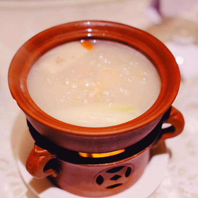 Double-boiled Cartilage Soup with Fish Maw