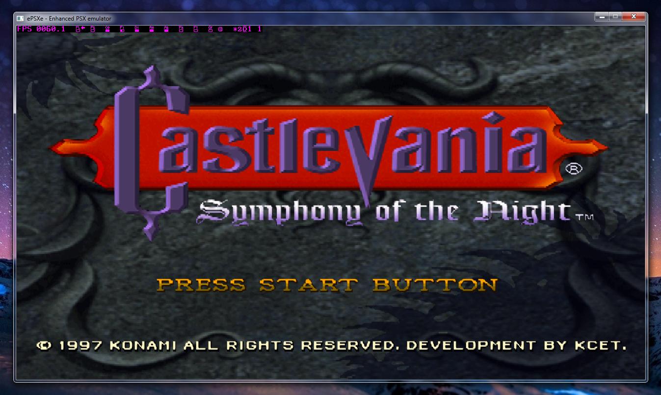Castlevania SOTN en epsxe para Windows