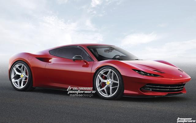 2017 Ferrari Dino rendering - #Ferrari #Dino #tuning #supercar