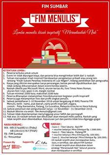 Lomba Menulis Kisah Inspiratif Hadiah Tiket Bali - FIM MENULIS