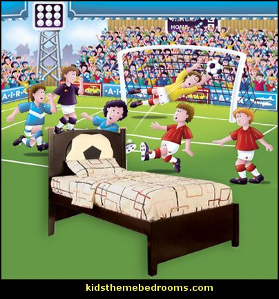 Decorating theme bedrooms maries manor sports bedroom decorating ideas wrestling theme - Soccer murals for bedrooms ...