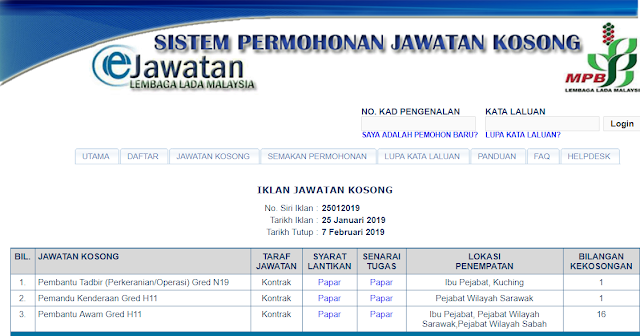Jawatan Kosong di Lembaga Lada Malaysia (LADA) - 7 Februari 2019