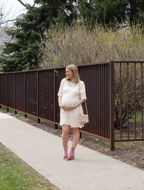 cream tobi spring 2017 maternity dress