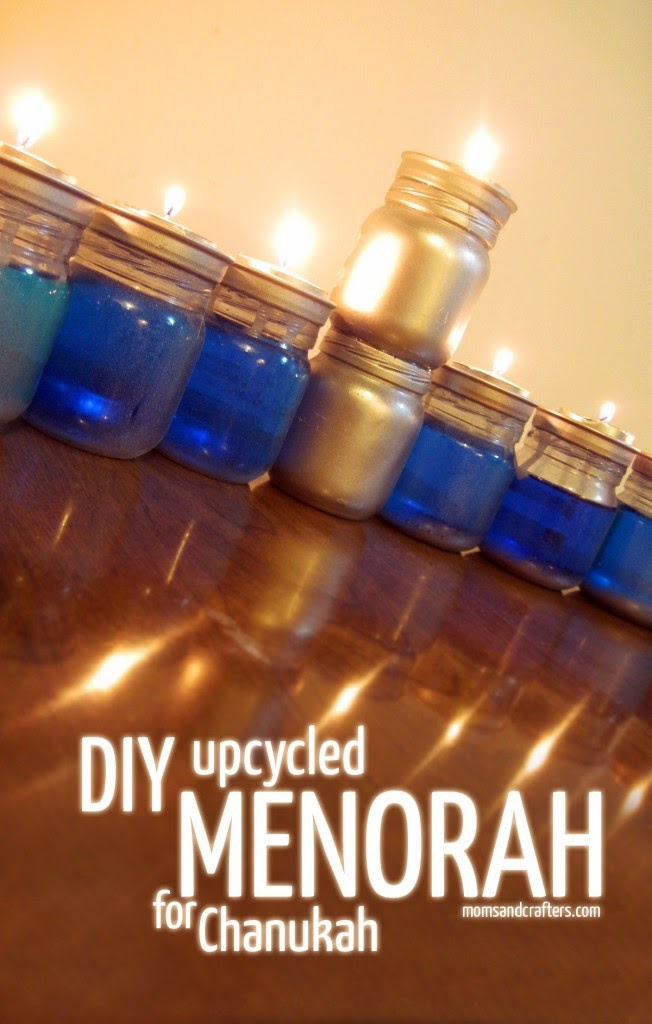 Upcycled Chanukah Menorah