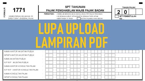 Lupa Upload Lampiran PDF SPT
