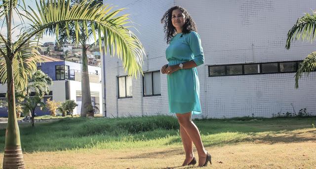 Vestido azul folgadinho