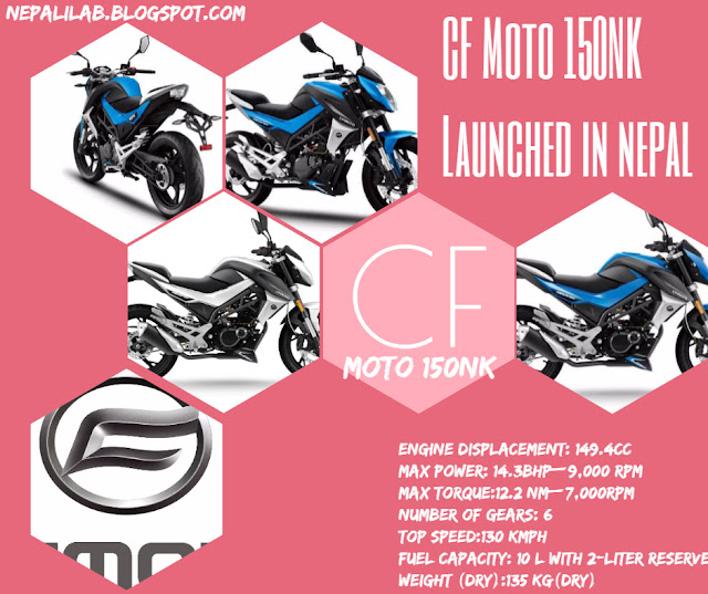 CFMoto launched CFMoto 150NK Motorcycle in Nepal