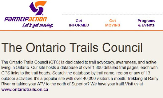 Ontario Trail Council - Trail Education and Trail Counts Programs