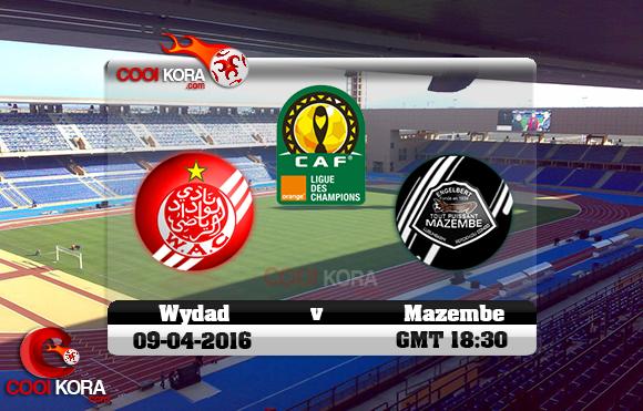 مشاهدة مباراة الوداد ومازيمبي اليوم 9-4-2016 في دوري أبطال أفريقيا
