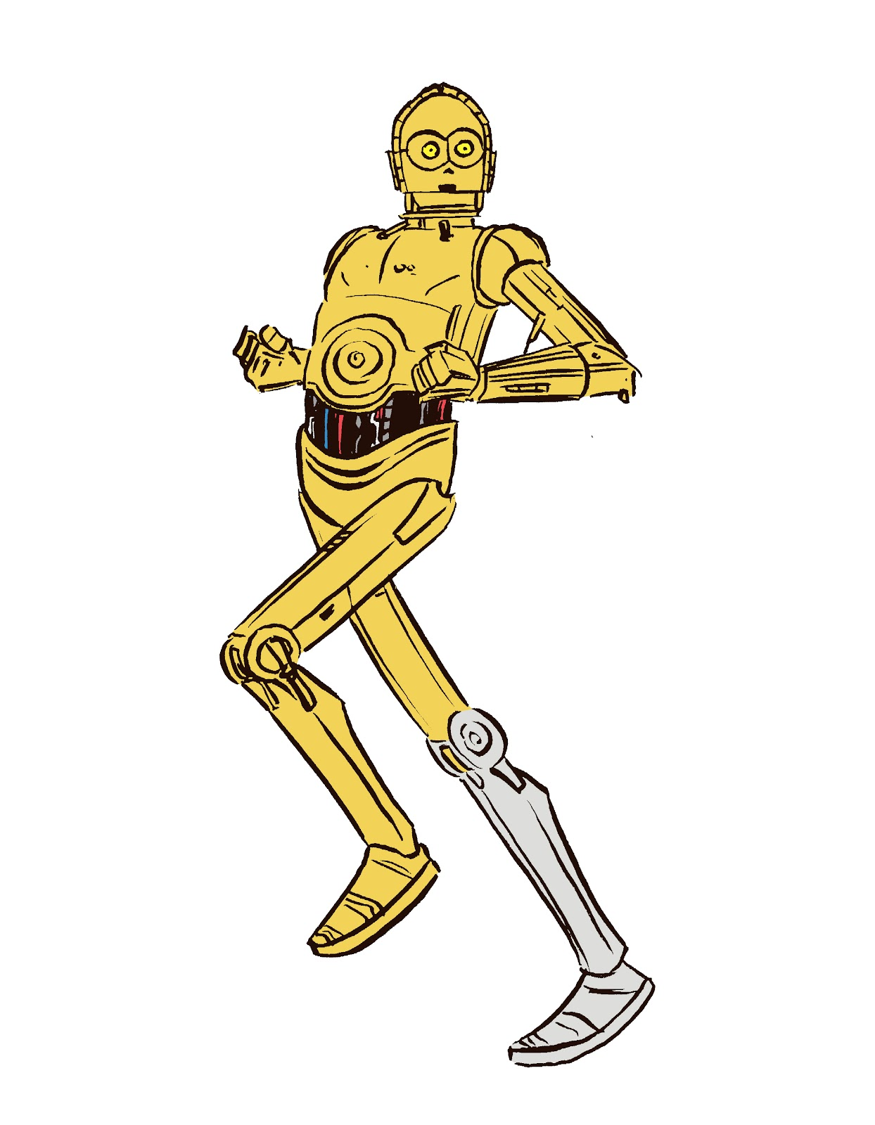 experiment alternate color on c 3po