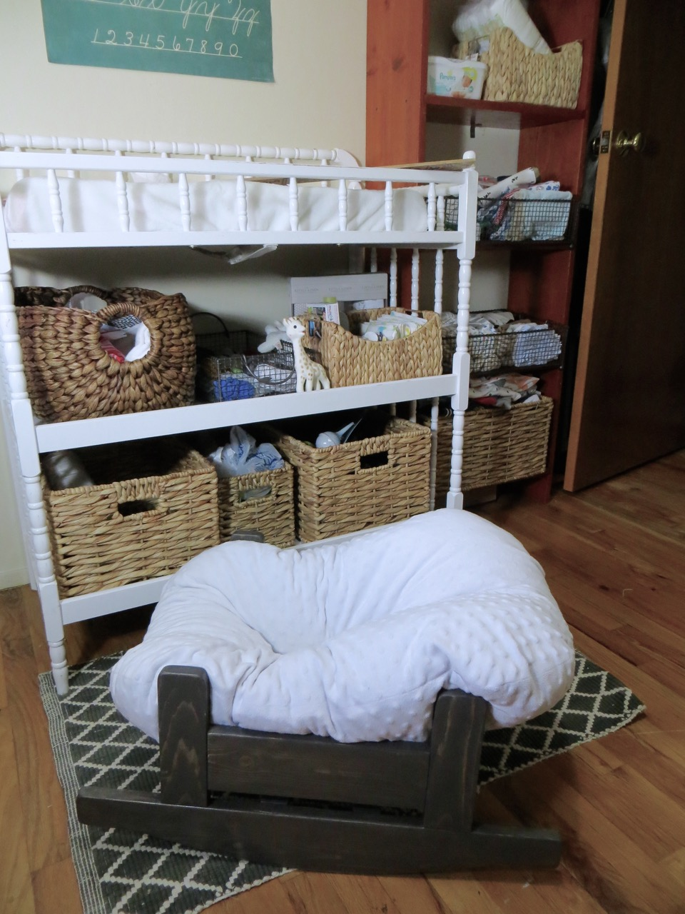 The Project Lady Diy Wooden Baby Pillow Rocker Bassinet Lounger