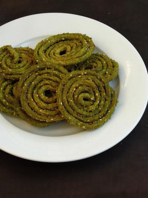 Palak chakli, Spinach Murukku