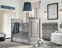Cuarto de bebé en azul y gris