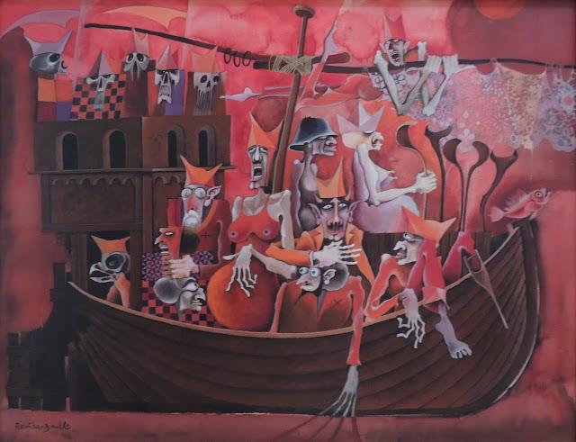 Rovira Brull pintura surrealista barco España locura