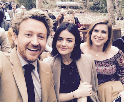 Lucy Hale at Troian Bellisario's wedding (Fort Day)