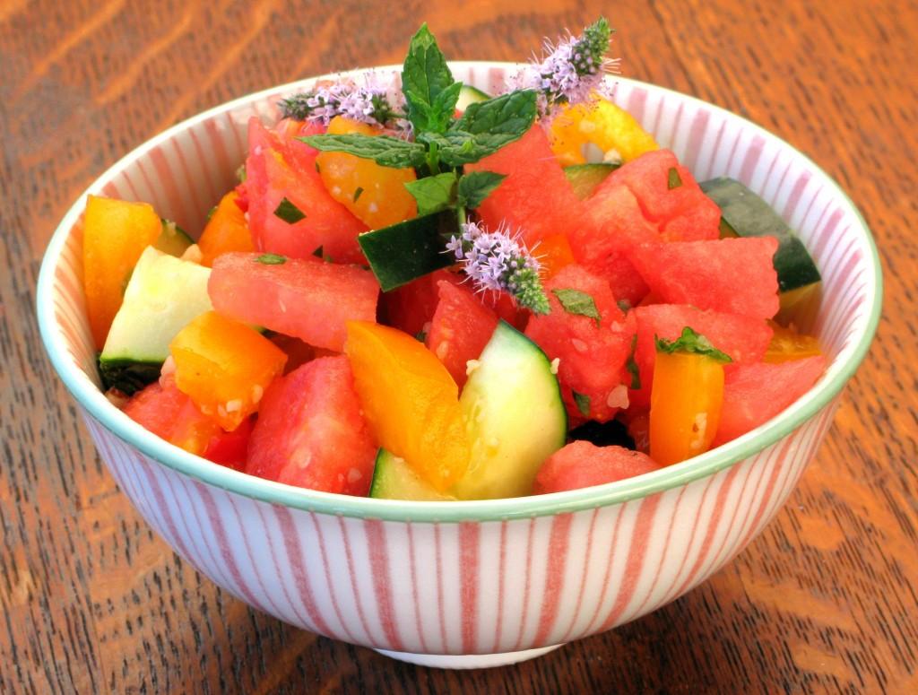 Http Www Epicurious Com Recipes Food Views Cucumber Tomato And Feta Salad