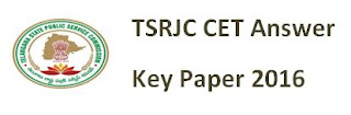 TSRJC Question Paper 2016 Solved