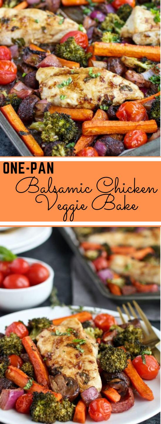 One-Pan Balsamic Chicken Veggie Bake #healthy #dietketo