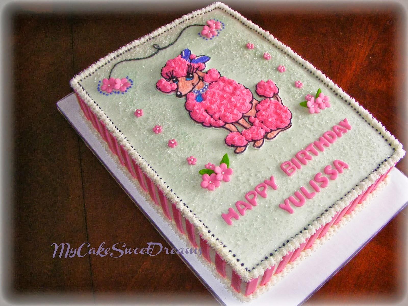Excellent Cakesbyzana Pink Poodle Birthday Cake Funny Birthday Cards Online Aeocydamsfinfo