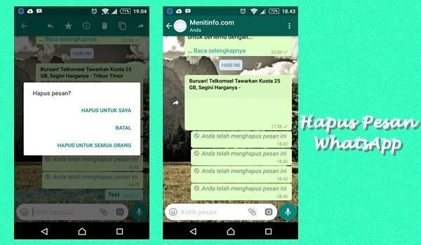 Cara Melihat Pesan WhatsApp yang Sudah Dihapus oleh ...