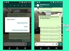 Cara Melihat Pesan WhatsApp yang Sudah Dihapus oleh Pengirim