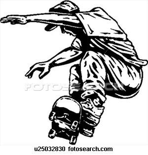 skatistas profissional na ativa desenhos preto e branco para colorir