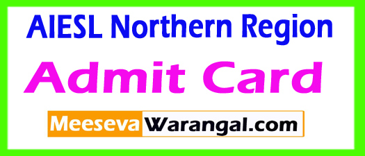 AIESL Northern Region Admit Card 2017 Download
