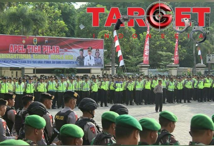 Apel Gelar Pasukan Tiga Pilar Kabupaten Pati, Siap Mengamankan Pilkada Jateng 2018