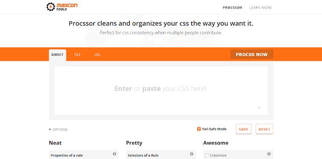 Situs - Situs Untuk Merapihkan Kode CSS - ProCSSor