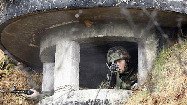 Νοτιο-Κορεάτες στρατιώτες εντός σκεπάστρου